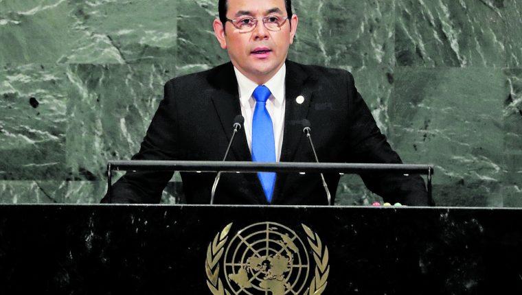 El presidente, Jimmy Morales, se dirigirá a la Asamblea General de las Naciones Unidas esta semana. (Prensa Libre: Hemeroteca PL)