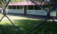 Escuela de Semuy 2, la comunidad de El Estor, Izaba, donde tres soldados fueron ejecutados. (Foto Prensa Libre: Dony Stewart)