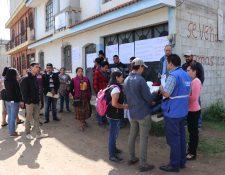 29 extensionistas del Maga en Quiché no reciben salario desde hace seis meses. (Foto Prensa Libre: Héctor Cordero)