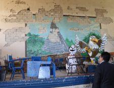 En enero de este año la Procuraduría de los Derechos Humanos verificó el estado de la escuela Ulises Rojas. (Foto Prensa Libre:  Hemeroteca Pl)