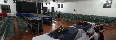 Este era el lugar donde se llevaría a cabo la elección de la Reina Internacional de las Fiestas de Independencia. (Foto Prensa Libre:  Mynor Toc)