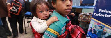 Este año la Secretaría de Seguridad Alimentaria y Nutricional reporta en Totonicapán 139 casos de desnutrición aguda. (Foto Prensa Libre: Mynor Toc)