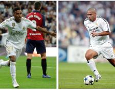 El talento de los brasileños en el Real Madrid ha sido evidente. Rodrygo es la nueva joya, debutó con gol como lo hizo en el 2002 Ronaldo Nazario. (Foto Prensa Libre: EFE y Redes)