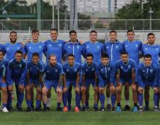 Los jugadores de la Selección Nacional de Guatemala previo a enfrentar a Puerto Rico. (Foto Prensa Libre: cortesía ACD)