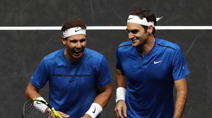 Nadal y Federer son dos gigantes del tenis de campo en la actualidad. (Foto Prensa Libre: Redes)