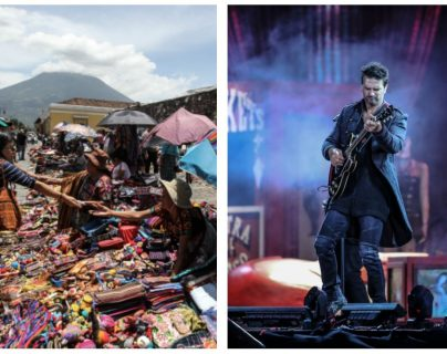 El cantautor guatemalteco Ricardo Arjona recorre las calles de Antigua Guatemala. (Foto Prensa Libre: Keneth Cruz)