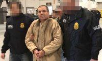 Joaquín el Chapo Guzmán, durante el traslado a prisión el 19 de enero de 2017, cuando fue capturado por México. (Foto Prensa Libre: Hemeroteca PL)