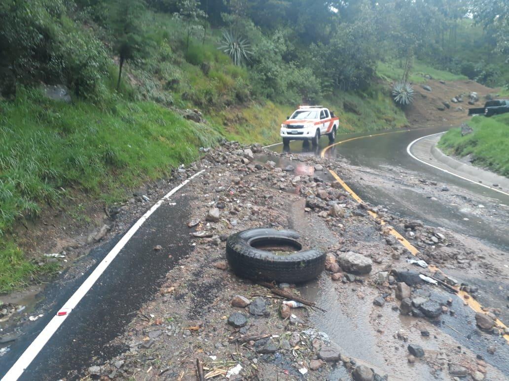 Nueve derrumbes han ocurrido en las últimas 24 horas en San Marcos y Quetzaltenango