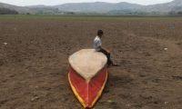 En años anteriores las canículas extendidas han golpeado fuertemente al país especialmente al Corredor Seco. Laguna de Atescatempa, Jutiapa, que se seca cuando no llueve suficiente (Foto Prensa Libre: Hemeroteca PL)