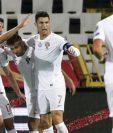 La selección de Portugal celebró el primer triunfo en la fase de grupo camino a la Euro. (Foto Prensa Libre: AFP).