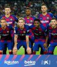 El FC Barcelona busca un nuevo título en la liga de futbol español. (Foto Prensa Libre: AFP)