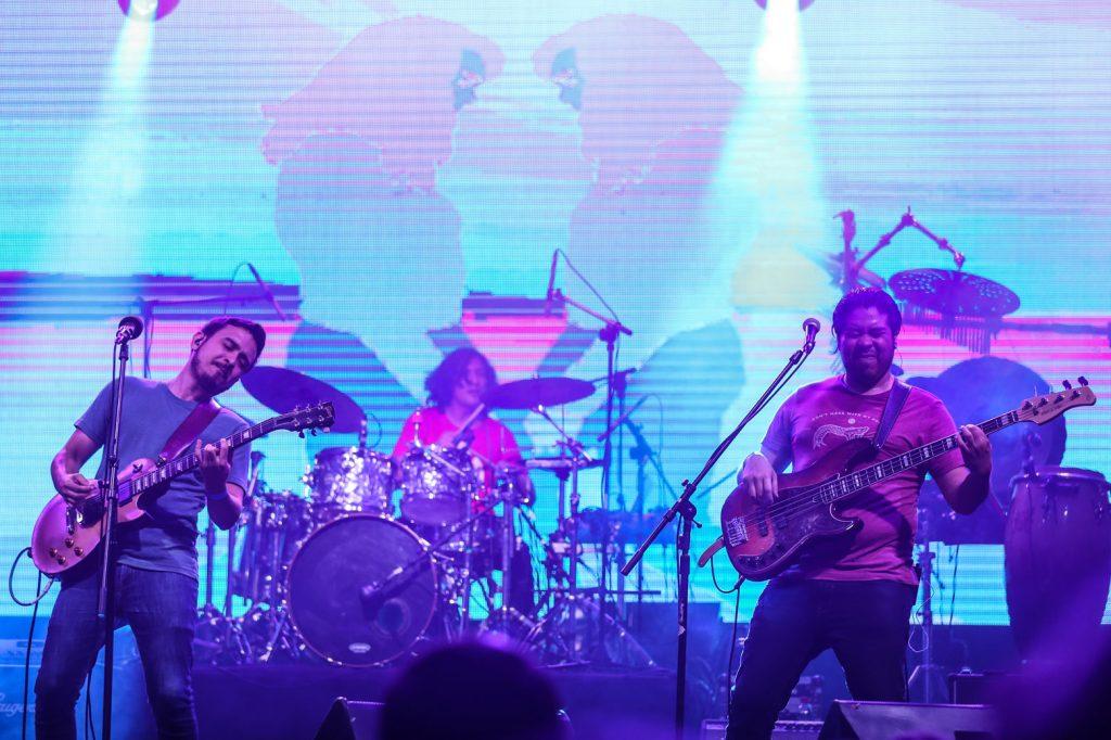 El sonido fresco de Filoxera le puso un toque diferente al Festival.  (Foto Prensa Libre: Keneth Cruz)