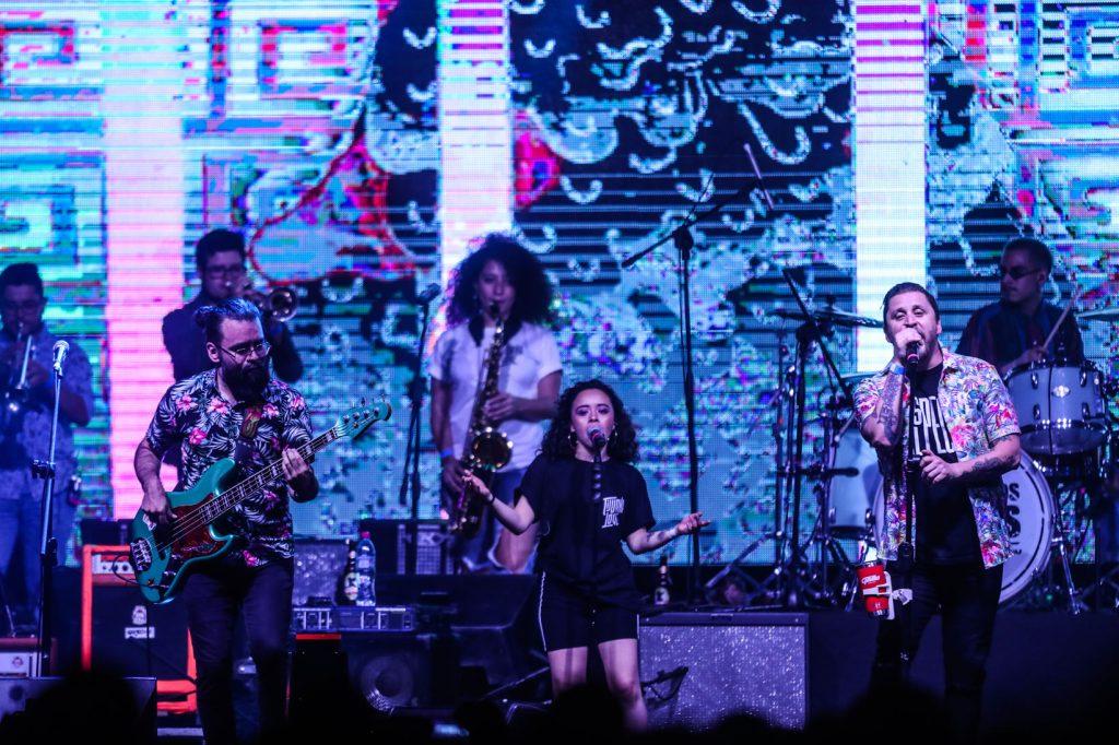 Tijuana Love fue la banda que puso a los guatemaltecos a bailar con sus diferentes ritmos y excelente propuesta sonora. (Foto Prensa Libre: Keneth Cruz)