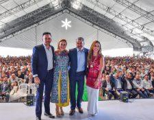 Directivos de Grupo Detpon festejaron los 27 años de estar exportando frutas y verduras. Foto Cortesía.