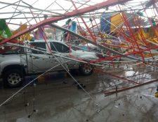 La rueda de Chicago estaba instalada para la feria, que inicia el día 6. (Foto Prensa Libre: Cortesía)