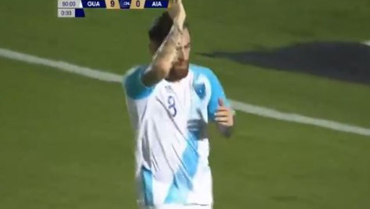 Marquez marcó el último de la goleada frente a Anguila.