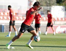 El portugués Joao Félix, durante la práctica de este viernes, con el Atlético de Madrid. (Foto Prensa Libre: Twitter @Atleti)