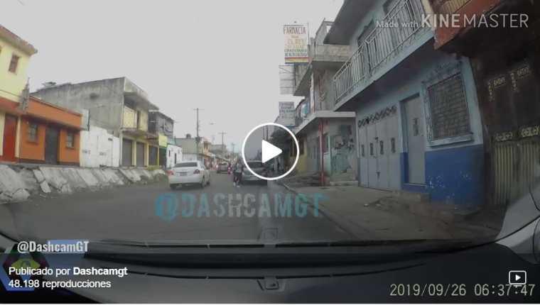 Los videos han ayudado para las investigaciones, pero aún así piden evitar grabarlos. (Foto Prensa Libre: @dashcamGT)