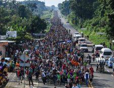 La migración aumentó en México desde octubre de 2018, cuando caravanas con miles de migrantes, en su mayoría centroamericanos, comenzaron a ingresar al país para llegar a Estados Unidos. (Foto Prensa Libre: Hemeroteca PL)