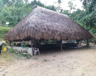 El narcolaboratorio es un rancho ubicado en un área montañosa de la aldea El Rico, en Los Amates, Izabal. (Foto Prensa Libre: Cortesìa)