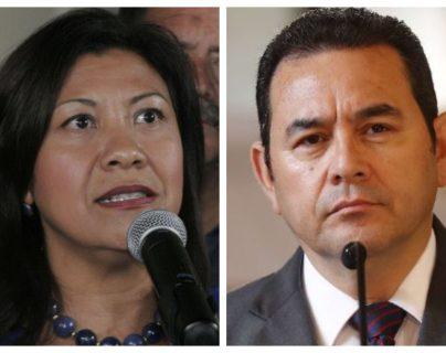 Norma Torres ha criticado a Jimmy Morales por la ofensiva contra la Cicig. (Foto Prensa Libre: Hemeroteca PL)