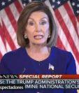 Nancy Pelosi, líder demócrata en el congreso estadounidense.