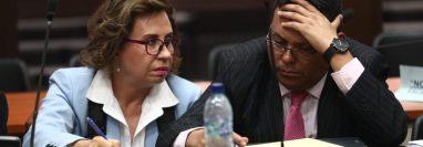 Sandra Torres durante la audiencia de primera declaración. (Foto Prensa Libre:  Carlos Hernández)