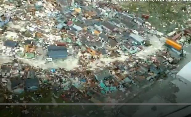 Huracán Dorian: así se ve la escala de la destrucción en Bahamas desde el aire