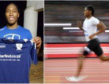 De brillar en el atletismo, Semenya ahora jugará en un equipo de futbol. (Foto C. Semenya).