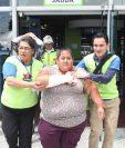 Tareas de rescate durante un simulacro de terremoto en la municipalidad capitalina en julio de 2017. (Foto Prensa Libre: Hemeroteca PL)