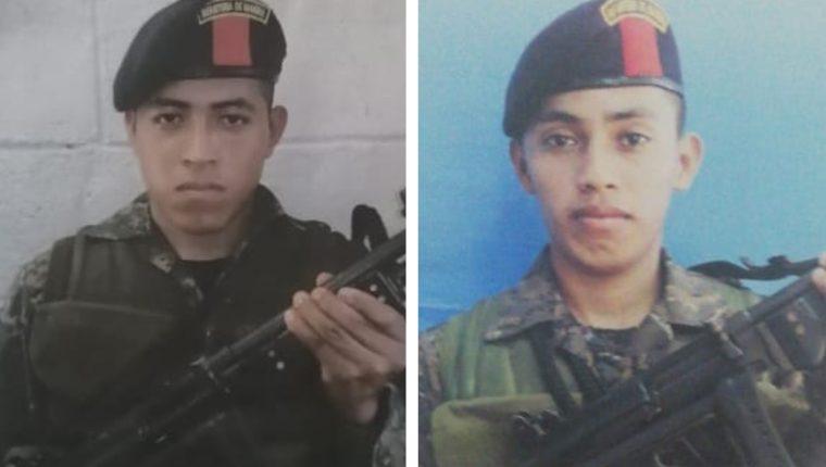 Anselmo Reginaldo Xolp Pop y Édgar Domingo Caal Caal. (Foto Prensa Libre: Ejército de Guatemala)