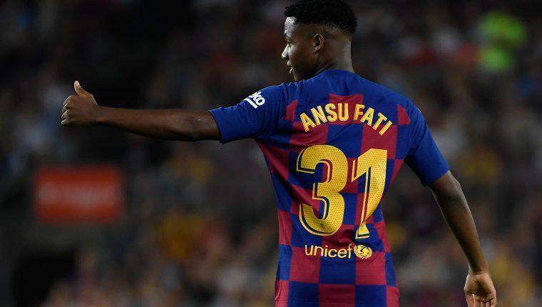 A sus 16 años Ansu Fati ya se estrenó como goleador en la Liga. (Foto Prensa Libre: AFP)