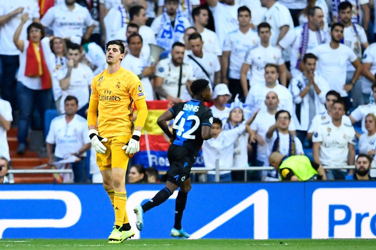 Courtois en el ojo del huracán por el mal inicio del Real Madrid en la Champions League
