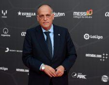 Javier Tebas, presidente de LaLiga habló sobre los problemas que tuvo Messi con la Hacienda española. (Foto Prensa Libre: AFP)