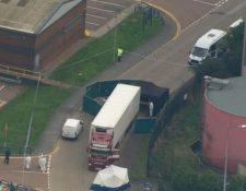 El parque industrial donde fue hallado el camión ha sido cerrado por la policía.