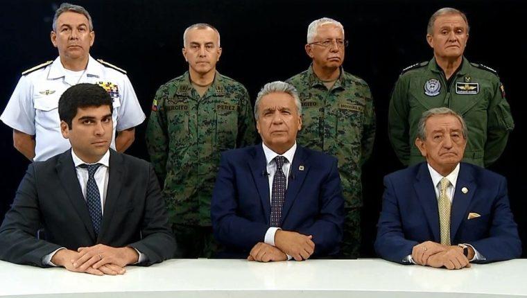 Lenín Moreno defendió su medida de eliminar los subsidios de los combustibles. SECRETARIA GENERAL DE COMUNICACIÓN