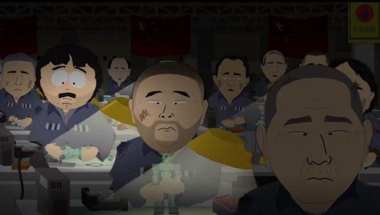Un episodio de South Park intentó mostrar cómo era un centro de detención del gobierno chino.