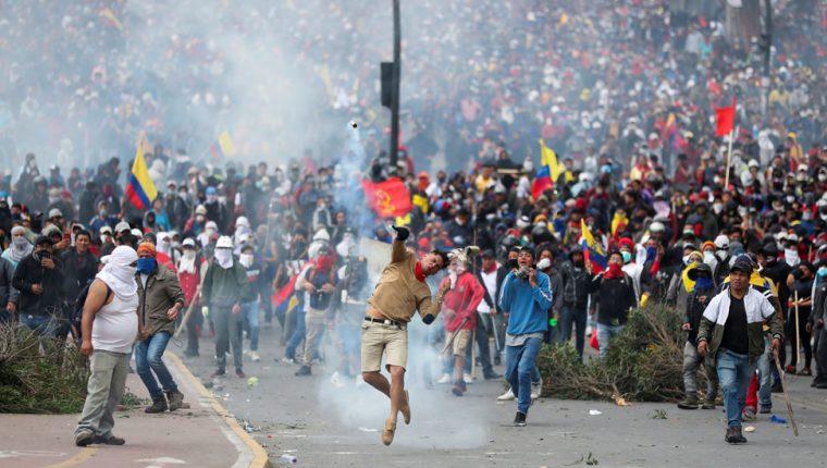 Alrededor de 7.000 indígenas llegaron a protestar a Quito desde el lunes.