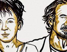 Olga Tokarcxuk y Peter Handke son los ganadores del prestigioso galardón. (FUNDACIÓN NOBEL)