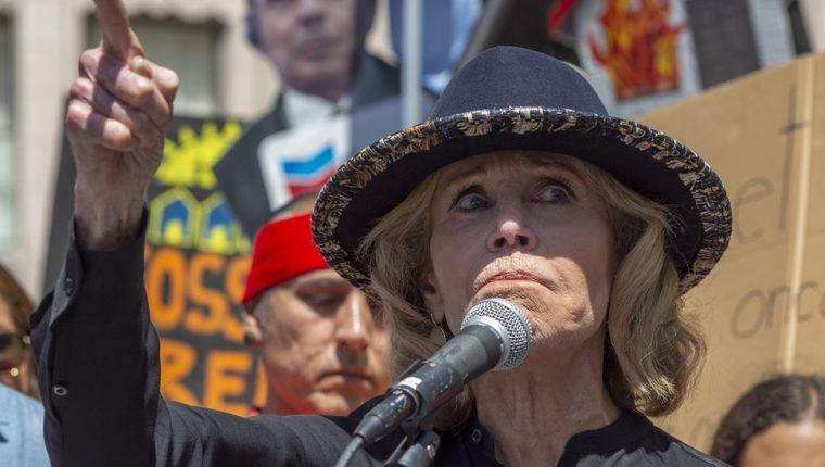 La actriz se mudó a Washington DC para protestar todos los viernes.