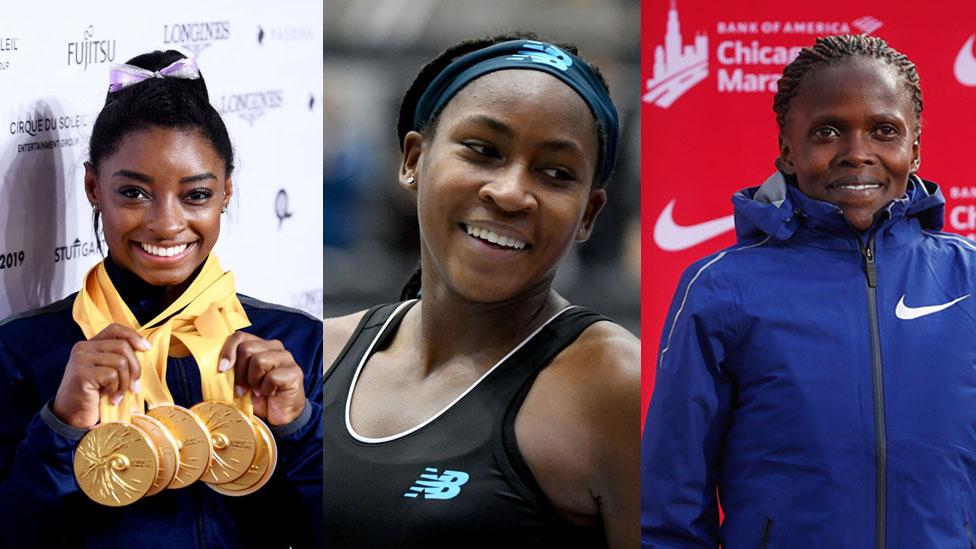 Biles, Gauff y Kosgei: los tres récords conseguidos por las deportistas en un fin de semana estelar