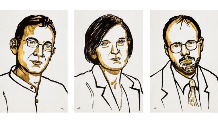 Abhijit Banerjee, Esther Duflo y Michael Kremer son los ganadores del premio Nobel de Economía 2019.