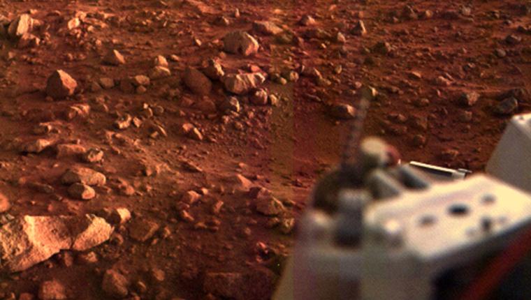 La misión Viking fue la primera que logró colocar naves en la superficie marciana que enviaron fotos del planeta.