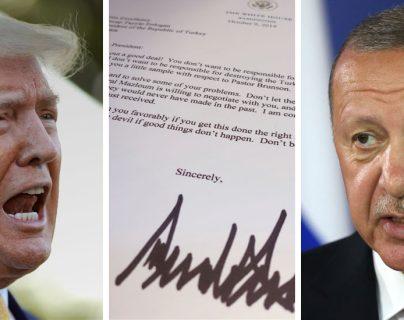 El presidente Trump envió una carta al presidente Erdogan con un lenguaje inusual. GETTY IMAGES