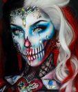 La pintora de cuerpos y estrella de redes sociales Ellie es conocida en Instagram por sus looks fantasmagóricos.