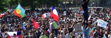 Las manifestaciones en Chile se han vuelto más masivas con el pasar de los días. GETTY IMAGES