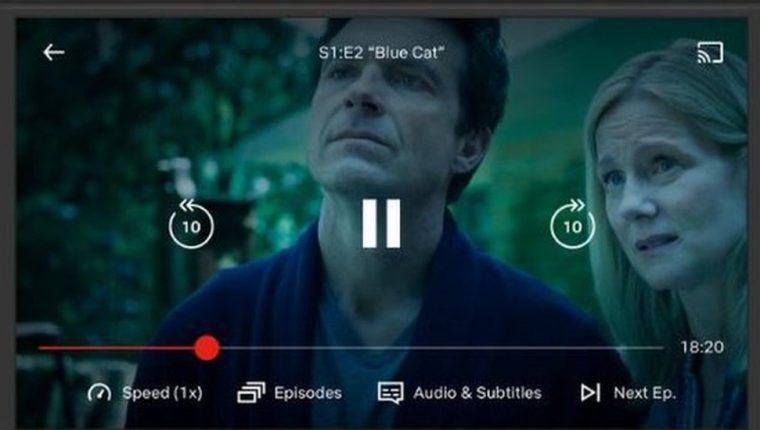 Algunos teléfonos con el sistema Android y la versión más reciente de Netflix tienen incorporada la función.