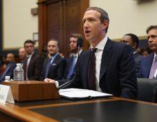 Mark Zuckerberg, testifica ante el Comité de Servicios Financieros de la Cámara de EE. UU., sobre la criptomoneda Libra propuesta por Facebook. (Foto Prensa Libre: AFP)