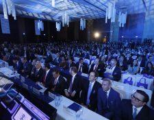 Empresarios y funcionarios se reúnen en Enade 2019. (Foto Prensa Libre: Esbin García)