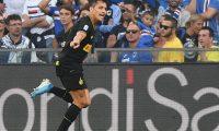 Genoa (Italy), 28/09/2019.- Inter's Alexis Sanchez celebrates scoring a goal during the Italian Serie A soccer match UC Sampdoria vs FC Inter at the Luigi Ferraris stadium in Genoa, Italy, 28 September 2019. (Italia, Génova) EFE/EPA/LUCA ZENNARO